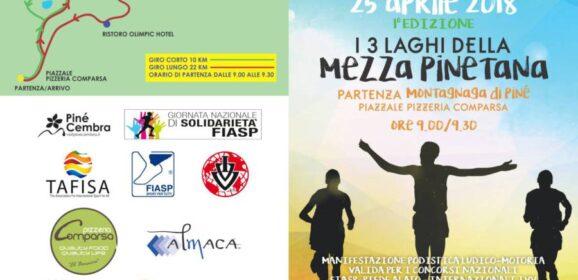 I 3 LAGHI DELLA MEZZA PINETANA – DOMENICA 25 APRILE 2018
