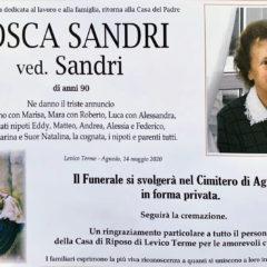 Salutiamo Tosca Sandri 🙏🏻