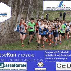 CAMPIONATI INDIVIDUALI E DI SOCIETA' GIOVANILI di Corsa in Montagna – DOMENICA 19 LUGLIO 2020 a Roncone – AVDC PRESENTEEEE 🧡🖤🔥