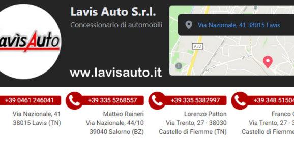 LAVIS Auto: rivenditori multimarca a Trento e provincia. Nuovo e usato selezionato di tutte le marche.🚗🚗🚗
